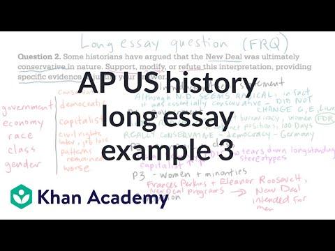 AP US history long essay example 3   US History   Khan Academy