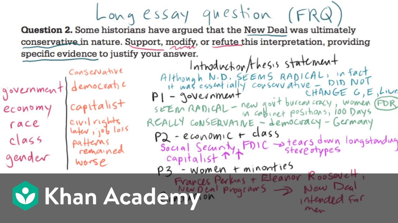 AP US history long essay example 3  US History  Khan Academy  YouTube