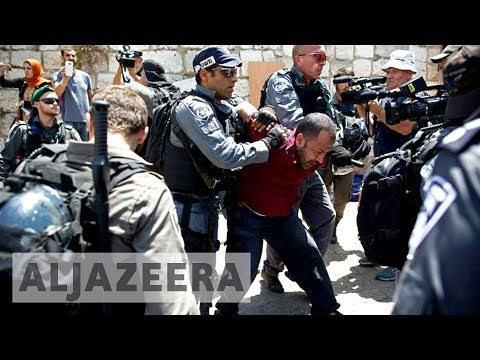 Palestinians clash with Israeli forces outside al-Aqsa