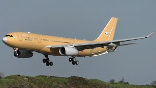 Korean Air Force Airbus A330 MRTT Short Landing at Cambridge Airport