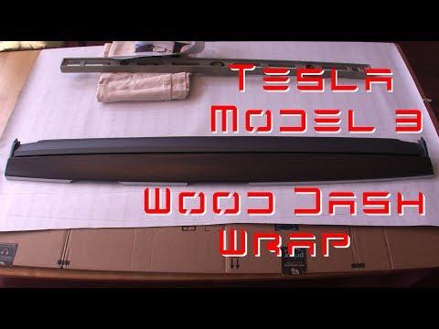 Tesla Model 3 - Wood Dash Vinyl Wrap