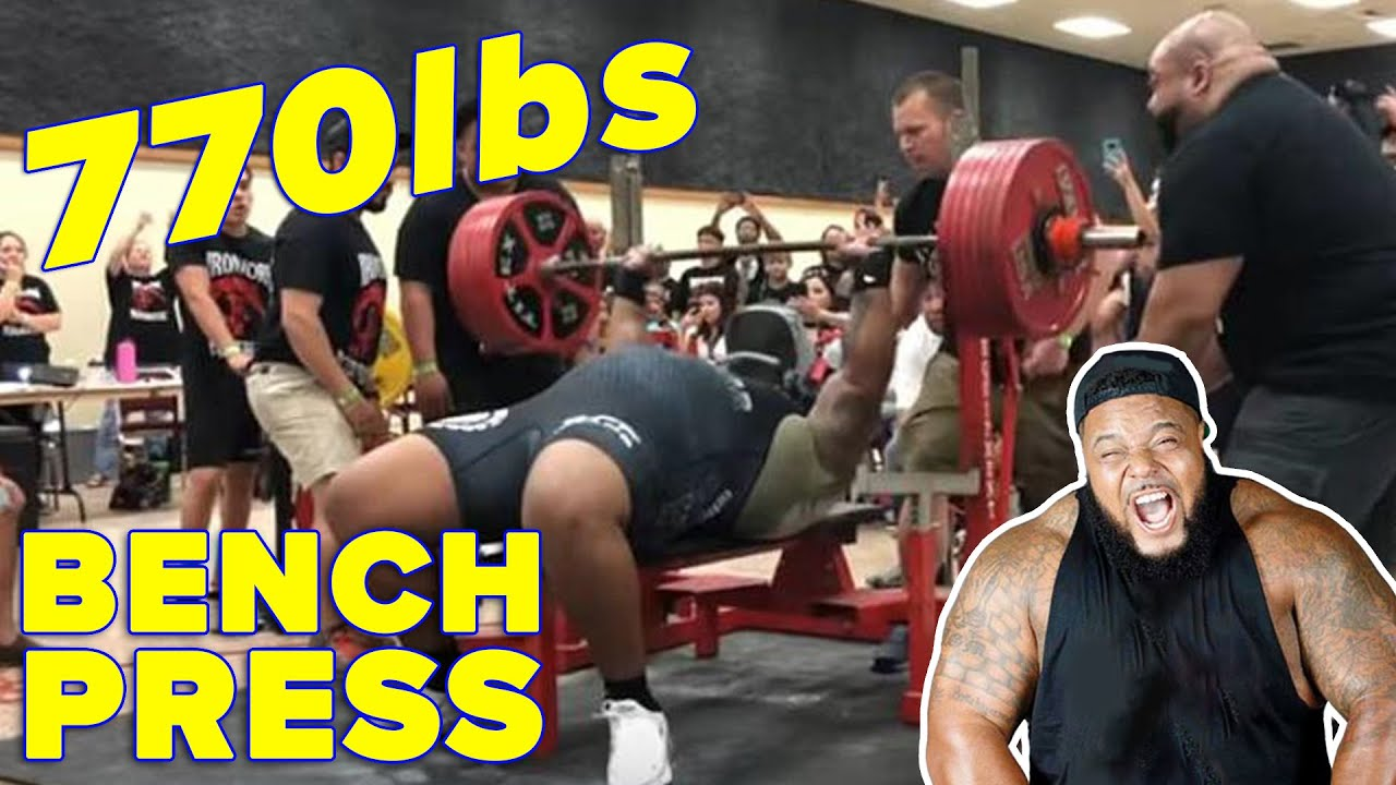 Julius Maddox Hits Biggest Bench Press Ever 770lbs Exclusive Interview Youtube