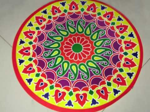 Very simple rangoli designs and ideas for festivals for Floor rangoli design