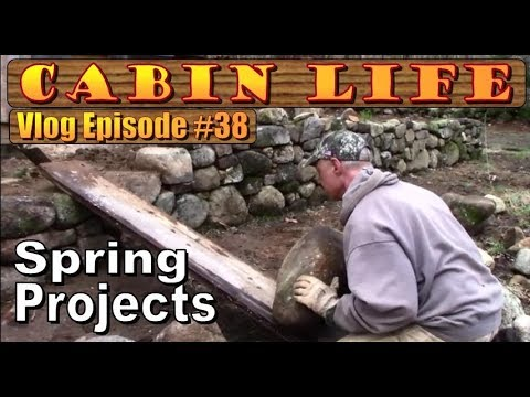 off-grid-cabin-life-building-stone-walls,-firewood,-forest-finds-and-bug-out-laughter