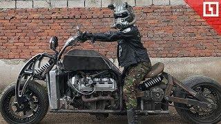 Артем из Уфы собрал мотоцикл на случай конца света под названием