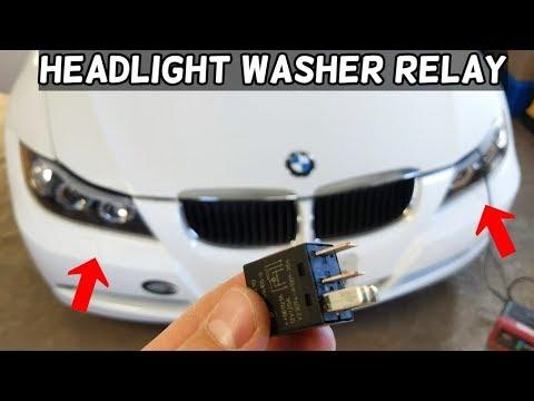 HEADLIGHT WASHER PUMP RELAY LOCATION BMW E90 E91 E92 E93