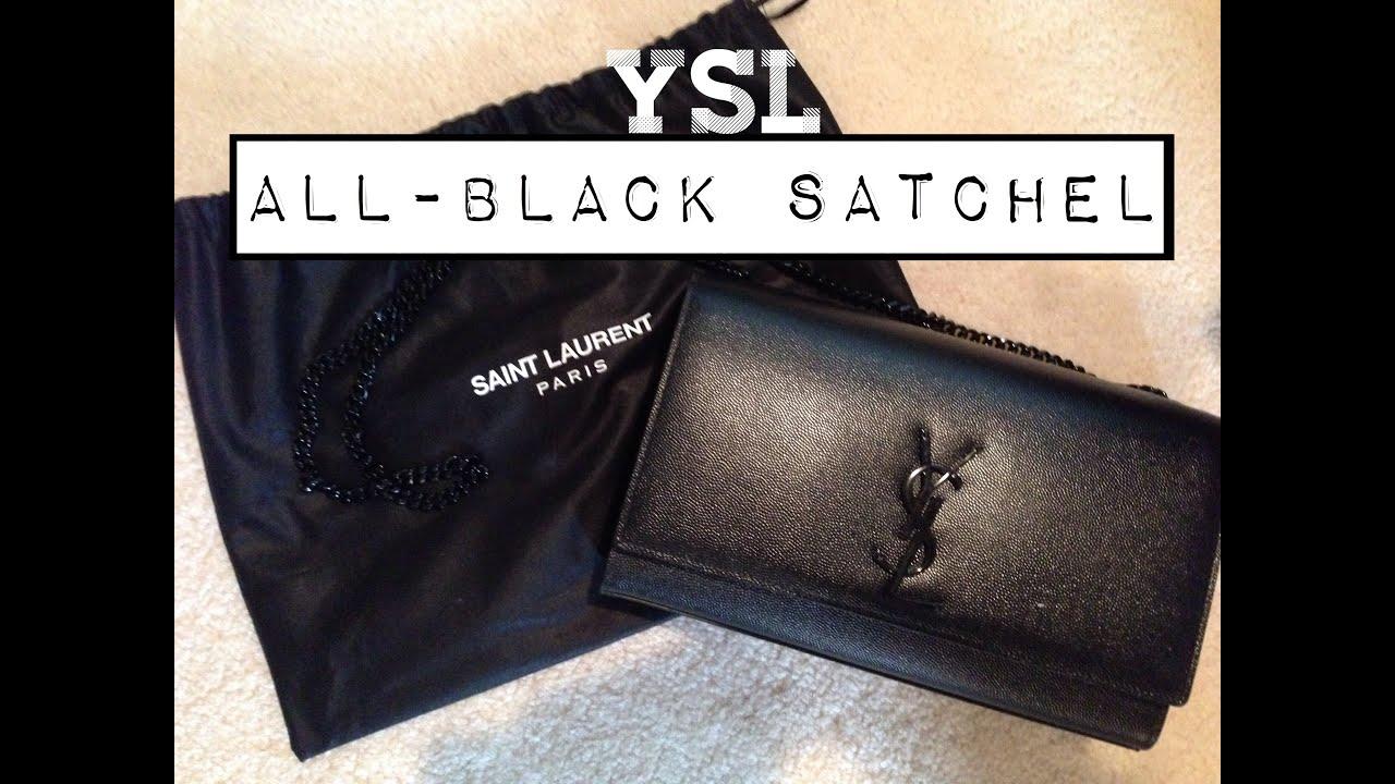 d31f17a092 YSL All-Black Satchel