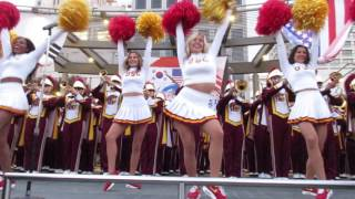 "USC Band ""Tribute to Troy, Fight On!"" Union Square San Francisco California 2016"
