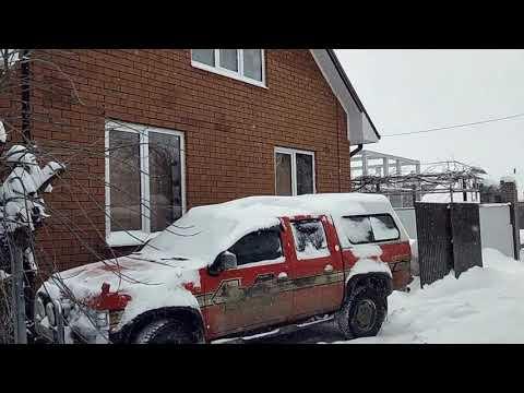 Чистим  свой навес от снега.  Про дом соседа.  Зима в Краснодаре.