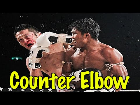 Muay Thai Elbow Counter to the Teep | Defensive Muay Thai Counter Technique
