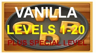 Word Cookies Vanilla Levels 1-20 plus special level answers