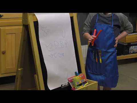Fundamentals Children's Easel W/ Paper Roll Visual Commerce #2