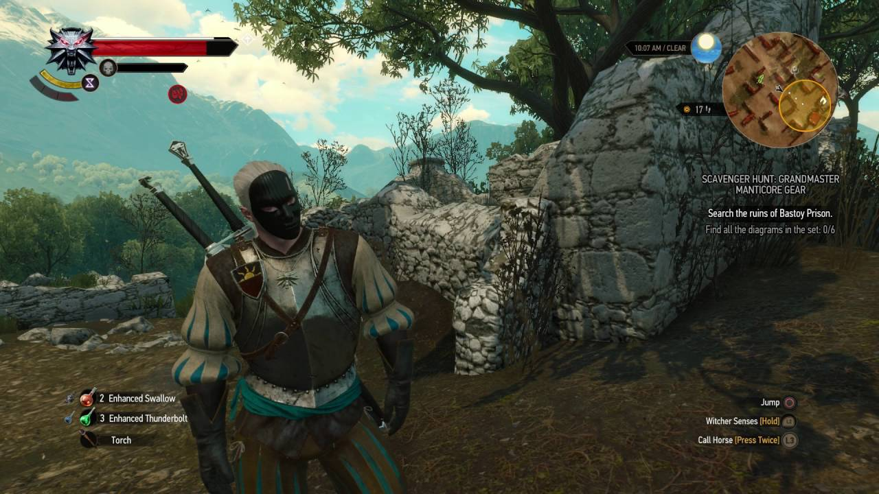 medium resolution of the witcher 3 blood and wine toussaint color ducal gaurd officer armor apearance statistics youtube