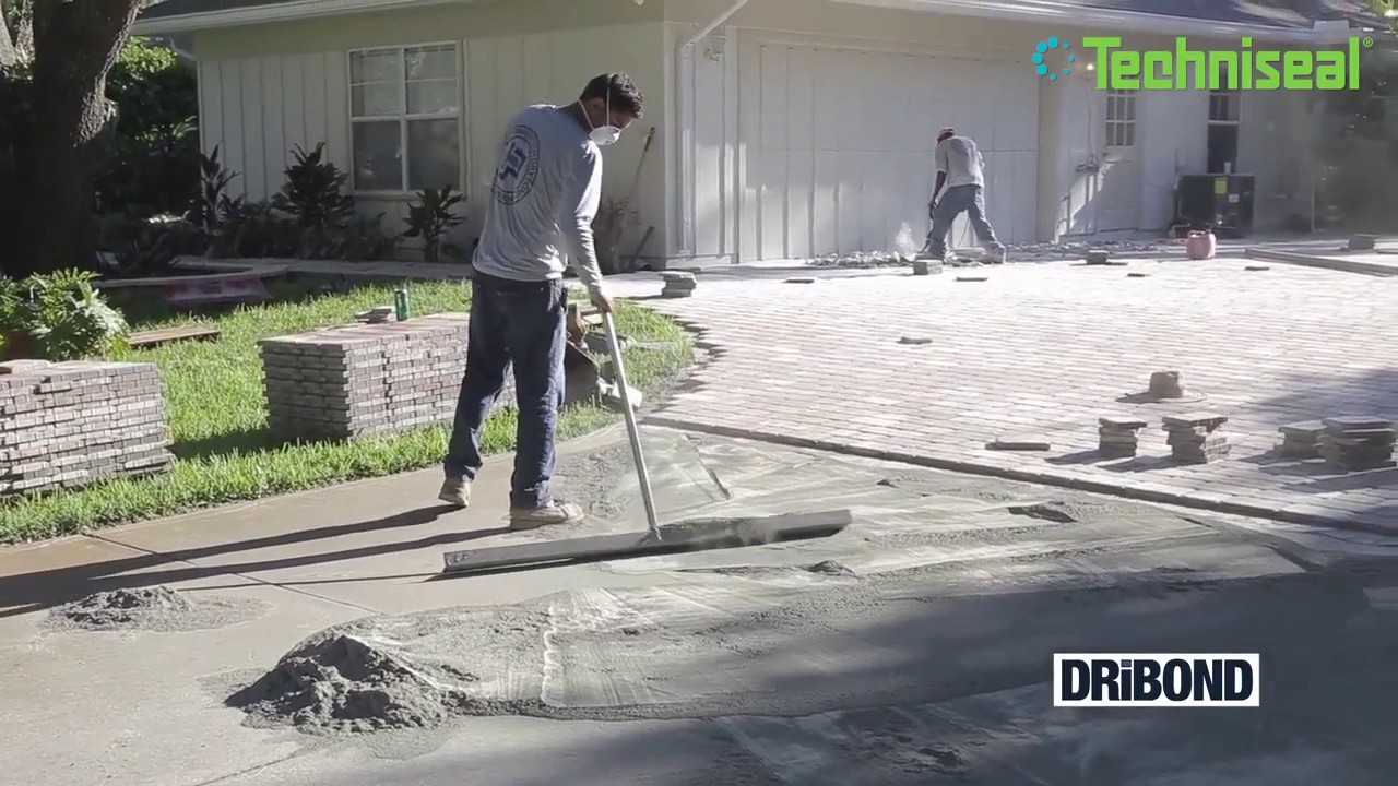installing thin pavers with dribond techniseal