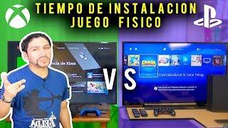 PS4 PRO vs XBOX ONE X -  Comparativa | Tiempo de instalación juego físico [ Prueba 1]
