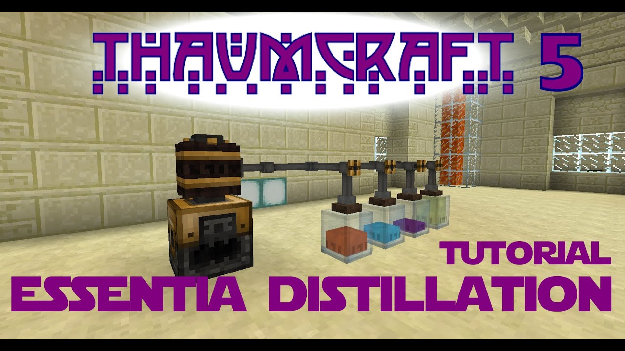 Thaumcraft 5 Tutorial - Part 12 - Essentia Distillation - Smeltery, Alembic, Valves and Warded Jars