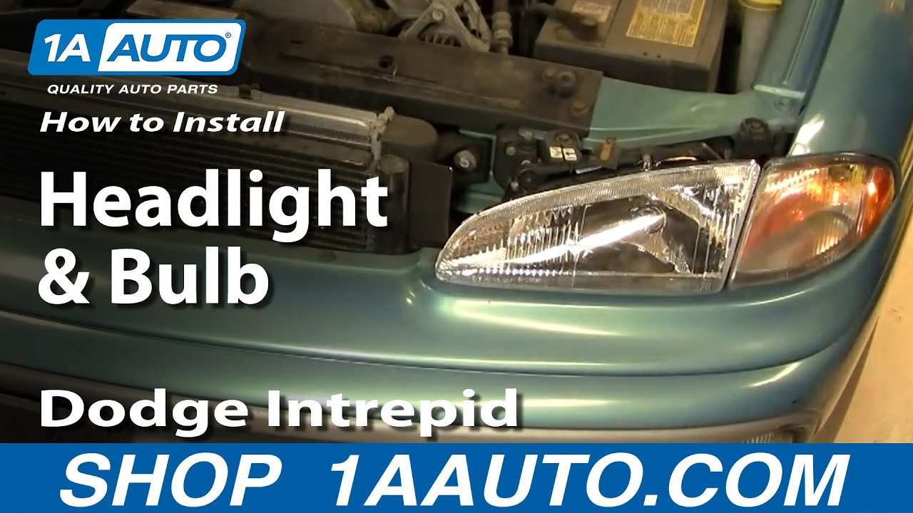 how to replace headlight and bulb 93 97 dodge intrepid [ 1280 x 720 Pixel ]