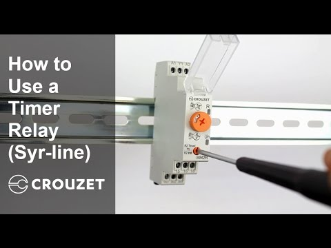 How to Use a Timer Relay (Syr-line) from Crouzet A Din Rail Relay Wiring on