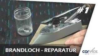 Textilreparatur so geht`s ! Teil #1 Brandloch im Autositz reparieren
