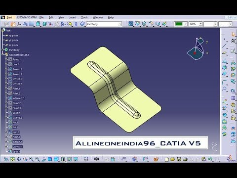 Automotive BIW Part Design _ Advanced Catia V5 Tutorial_BIW Design  _Stiffener addition