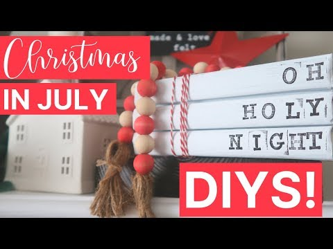 Quick & Easy Christmas DIYs With Dollar Store Supplies! | Christmas In July Collab 🎄