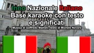 Fratelli d'Italia BASE KARAOKE CON TESTO E SPIEGAZIONI - Inno di Mameli - Il Canto degli Italiani