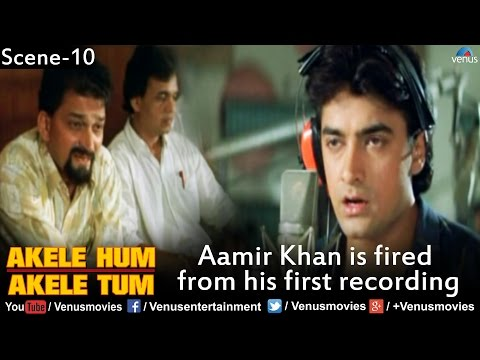 Aamir Khan is Fired from his first Recording Akele Hum Akele Tum