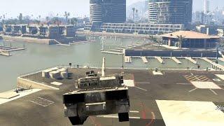 ボツ【GTA5】輸送ヘリに戦車を吊るした状態で砲弾を.......!! thumbnail