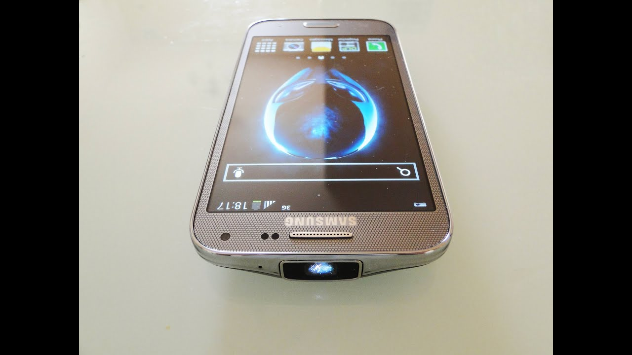 Samsung Galaxy BEAM 2 Review/Hands-on Built-in projector Smartphone ...