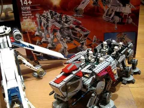 Lego Star Wars 10195 Republic Dropship With At Ot Walker Review