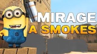 "CS:GO Mirage A Smokes [German] - 3 Standard-Smokes + ""Wall of Smokes"""