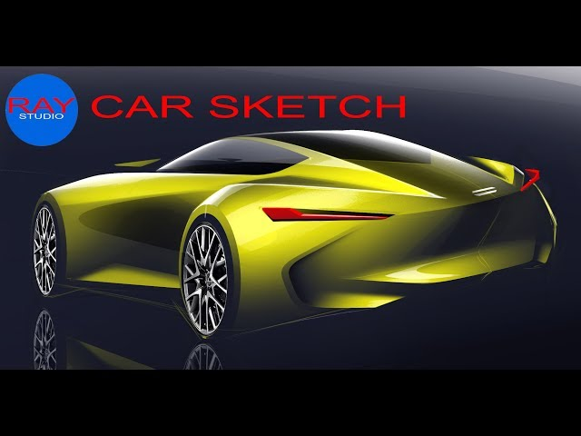 [car sketch] idea015 Sports coupe Rendering Demo