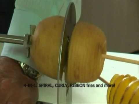how to cut tornado potato