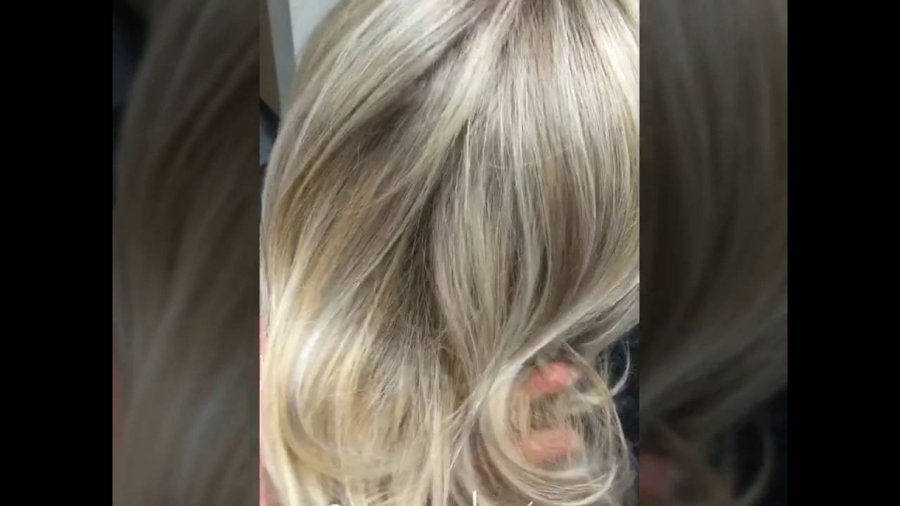 Ash Blonde Highlight And Lowlight Youtube