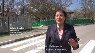 Europe Day: Pedestrian crossings with Gender Equality messages from Republic of Moldova