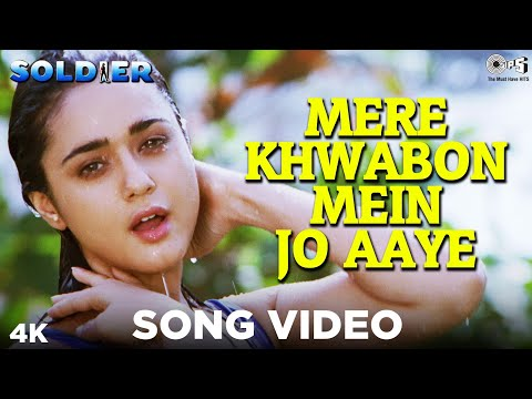 Mere Khwabon Mein Jo Aaye Song Video - Soldier | Alka Yagnik | Bobby Deol & Preity Zinta, Sonu Nigam