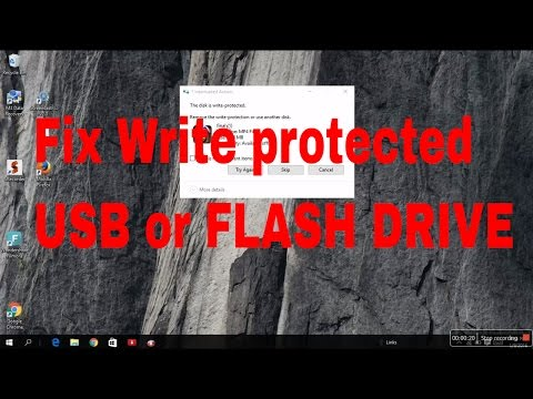 Windows 10 :How To Fix Or Enable Write Protected Usb Flash Drive
