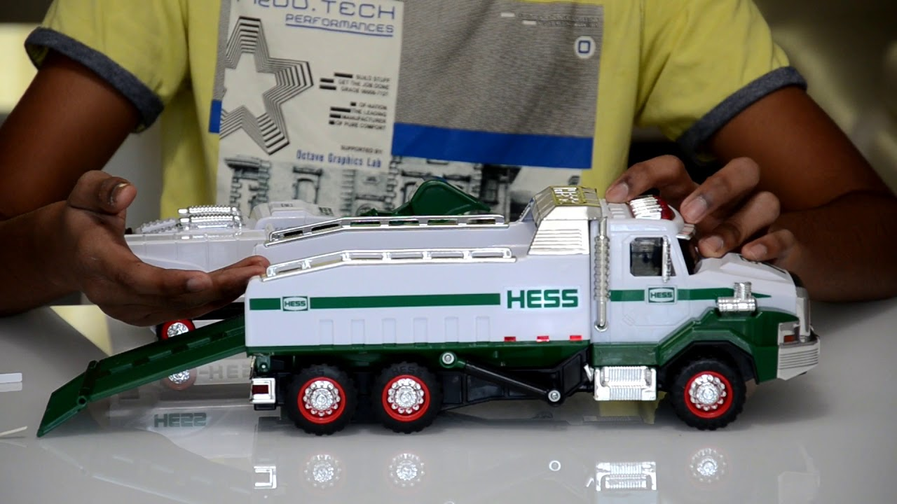 The hess toy truck 2017 detailed unboxing and review