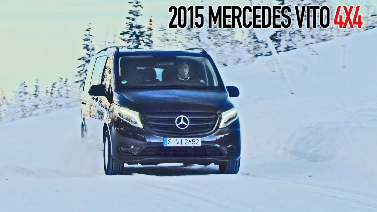 mercedes vito 4x4 2015 test drive on snow youtube. Black Bedroom Furniture Sets. Home Design Ideas
