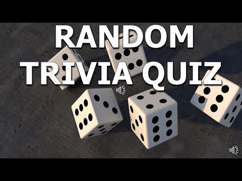 Random Trivia Quiz- General Knowledge Quiz From Trivia Night