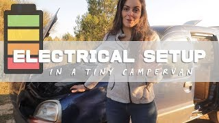 DIY Mini Campervan - My easy ELECTRICAL setup