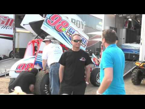 Steve Kinser and Dave Blaney interviews World of Outlaws New Egypt Speedway