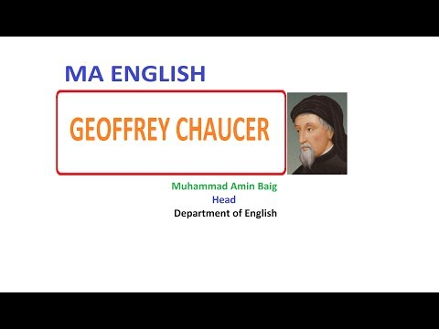 Geoffrey Chaucer 2 | the Father of English Literature | MA English | PU | Amin Baig