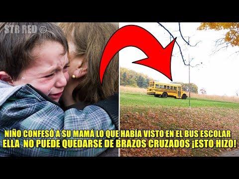 Niño confiesa a mamá lo que pasó en el bus escolar, ¡ella descubre lo que el chófer había hecho!