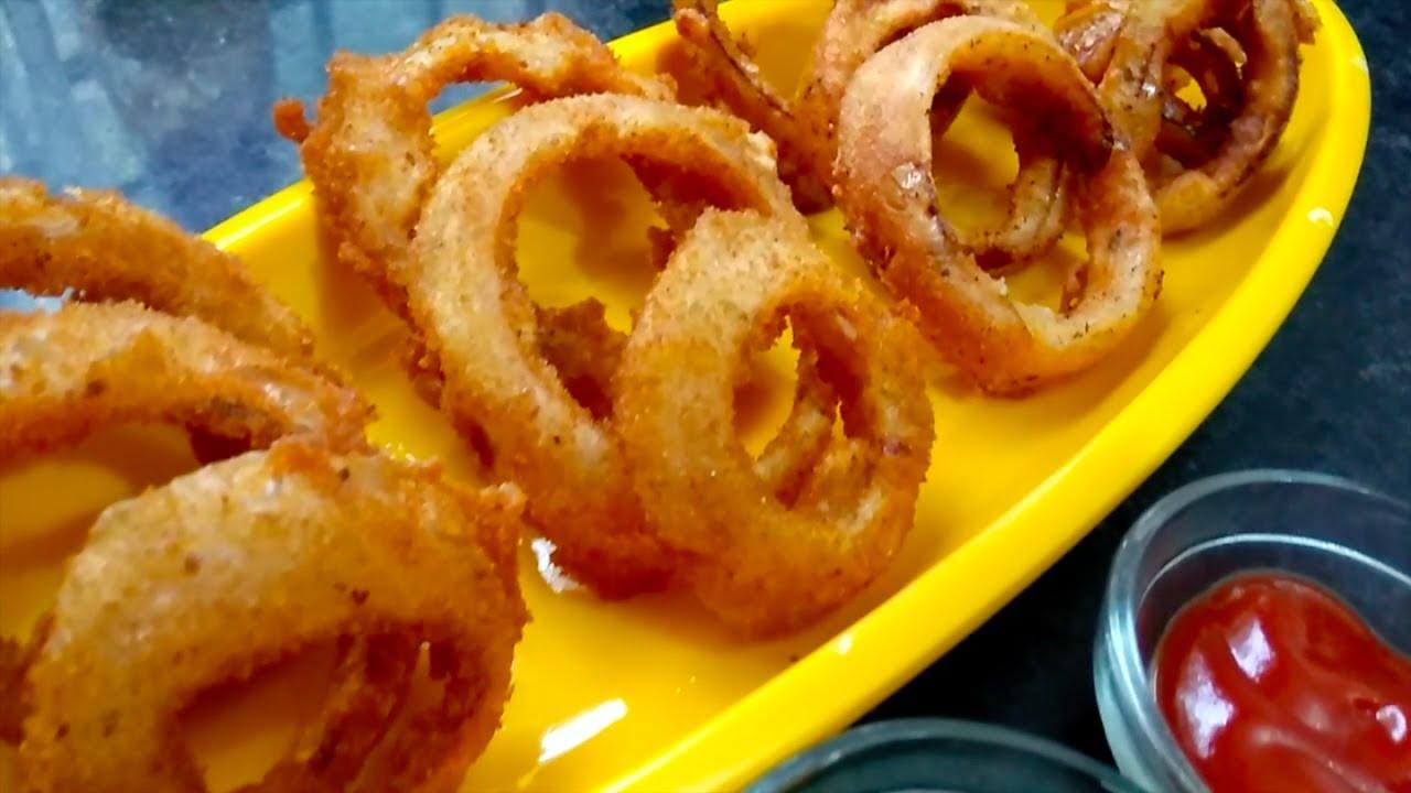 Super Crispy Onion Rings Without Eggs Crispy Onion Rings Recipe How To Make Crispy Onion Rings