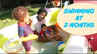 BABY'S FIRST SWIM   AdannaDavid