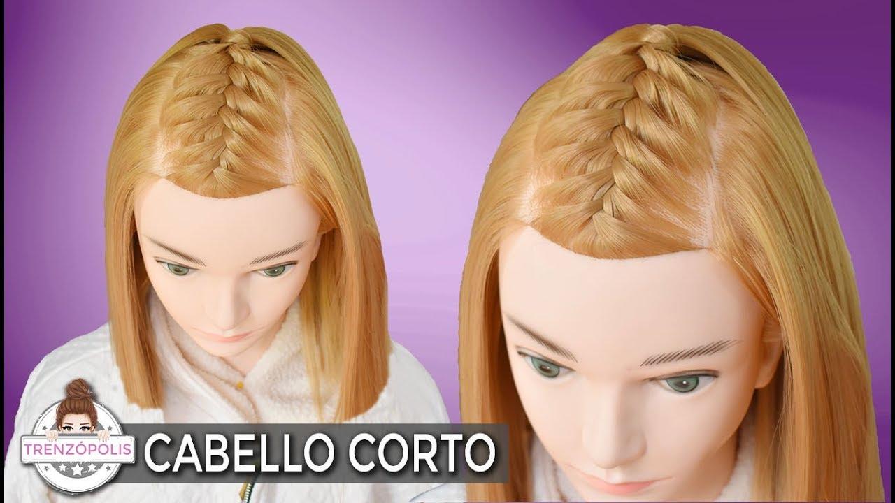 Peinados Para Cabello Corto Con Trenzas Faciles Y Rapidas De Hacer
