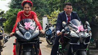 """Đám Cưới Khủng """" Chú Rể """"Hoàng Trần"""" Rước Dâu Bằng Màn moto Khủng tại Sài Gòn."""