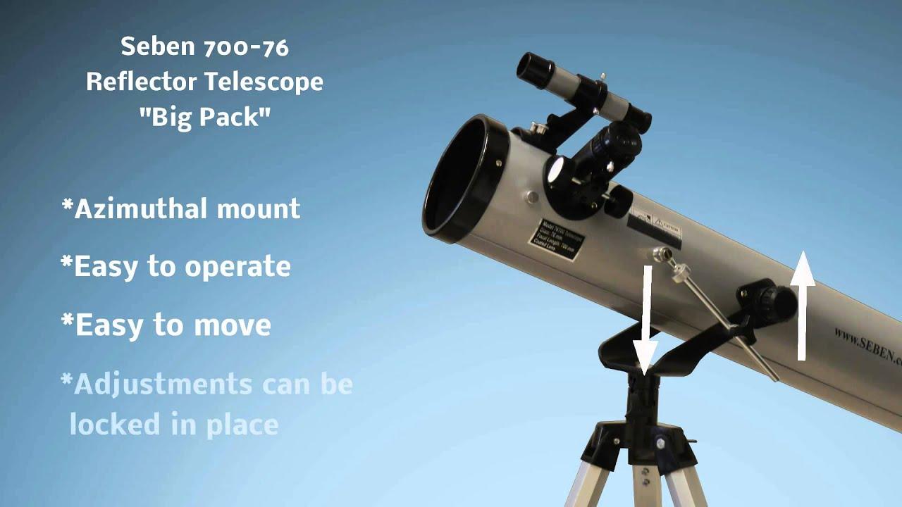 Seben 700 76 reflector telescope new big pack