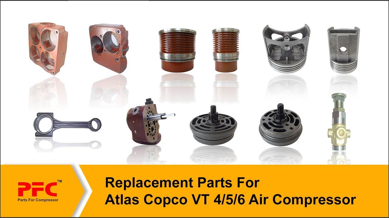 Air Compressor Replacement Parts >> Replacement Parts For Atlas Copco Reciprocating Air Compressor Pfc